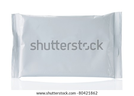 white blank plastic container. isolated on white