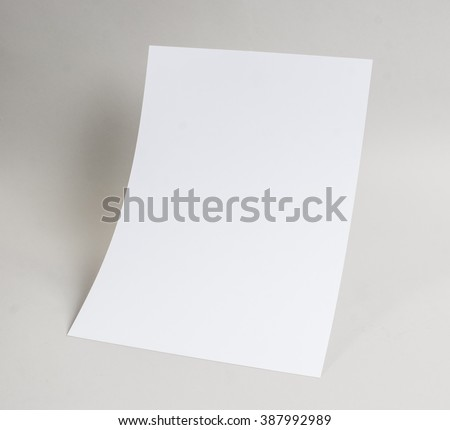 White blank stationary near the wall with shadow - stock photo