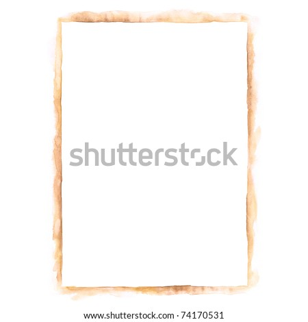 White blank template paper sheet for presentation corporate identity in sepia color isolated on white - stock photo
