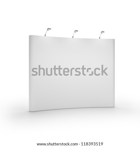 White blank trade show booth - stock photo