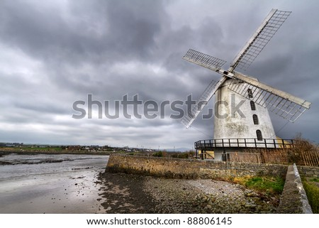 White Blenerville windmill in Tralee, Co. Kerry, Ireland