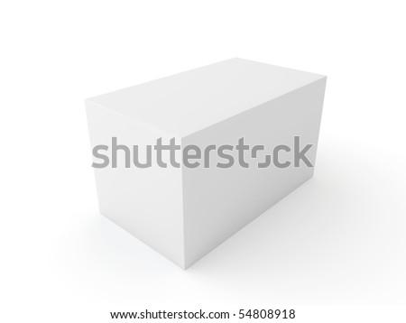 white block isolated on white background - stock photo