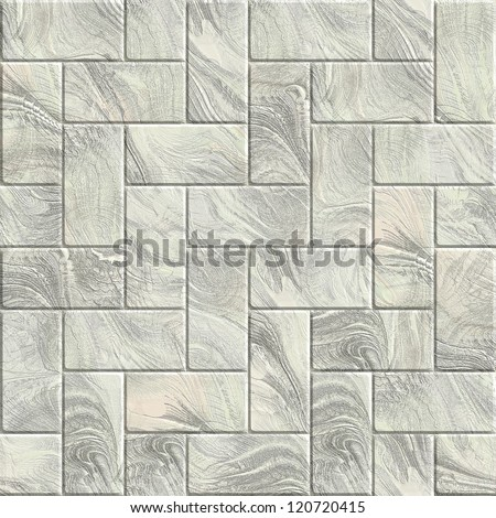 White block stone  pattern - stock photo