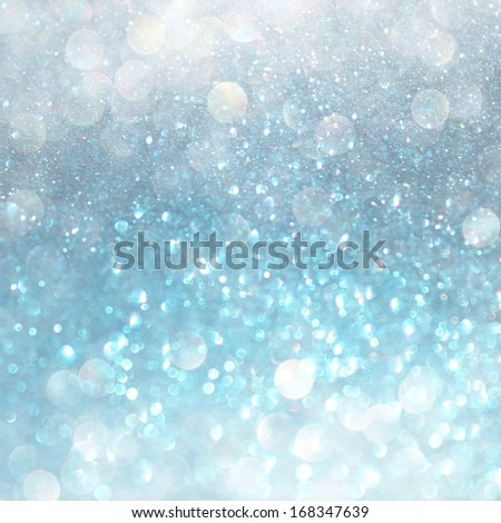 white blue and grey abstract  bokeh lights. defocused background  - stock photo
