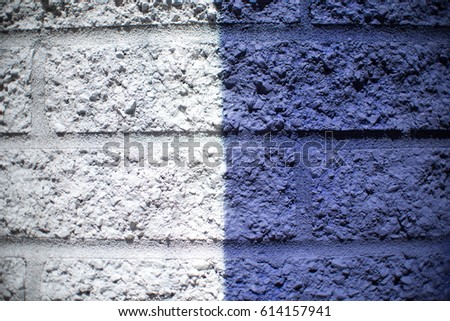 White, Blue, Gray Brick Wall Background