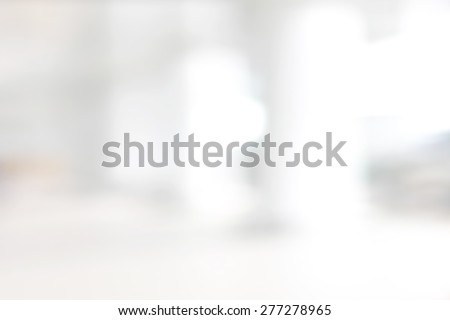White blur abstract background from building hallway (corridor) - stock photo