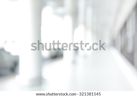 White blur abstract background from building hallway (or corridor) - stock photo