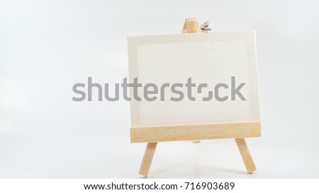 White board and objects.