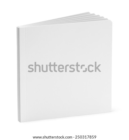White Board Book With Copy Space Isolated on White Background. - stock photo