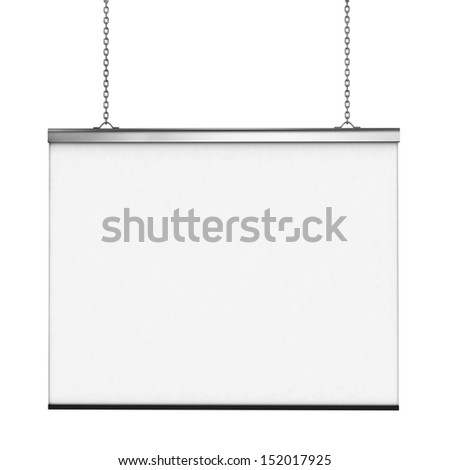White board isolated over white background, 3d - stock photo