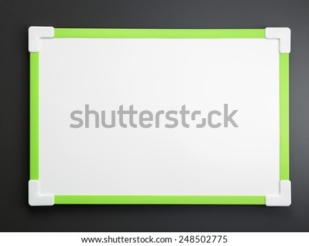 white board on the gray background - stock photo