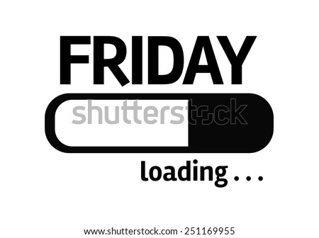 White board with inscription: Friday - stock photo