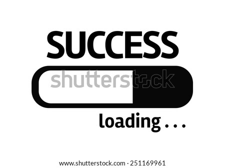 White board with inscription: Success - stock photo