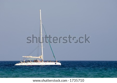 White boat in calm water