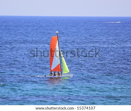 white boat on the sea