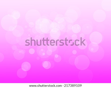 White bokeh circles on a pink and white gradient background - stock photo