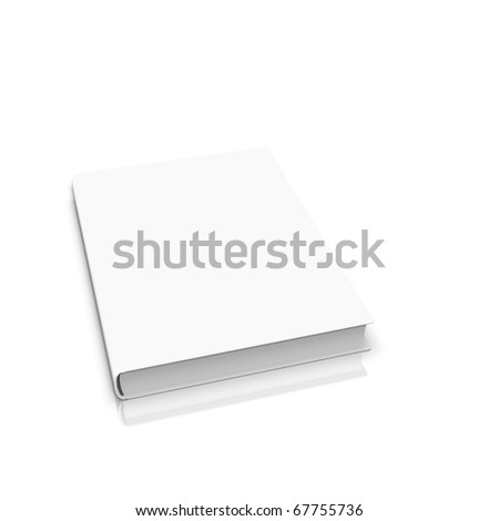 White book isolated on background