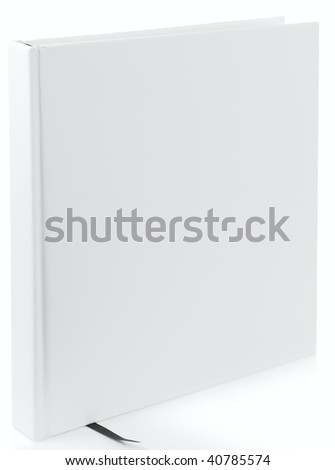 White book isolated on white background - design element - stock photo