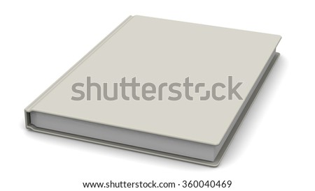White Book lies on a white surface. The three-dimensional illustration. Isolated