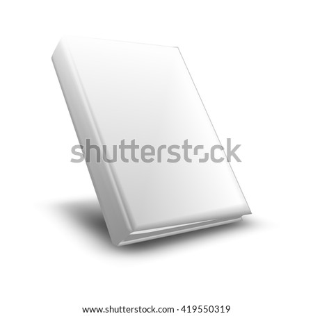 White  book mockup - 3D illustration