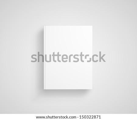 white book on a white background - stock photo