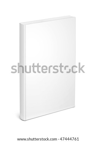 white book template - stock photo