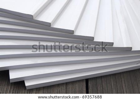 white books - stock photo