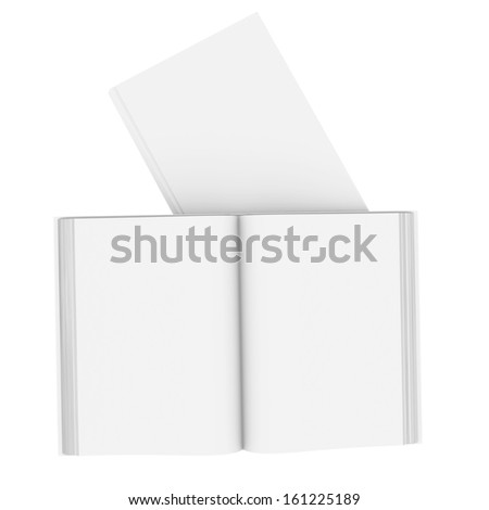 White books. Isolated render on a white background