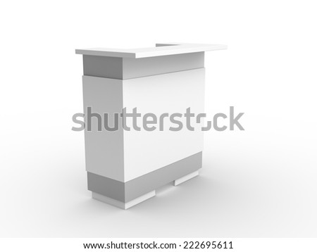 white booth or table in perspective