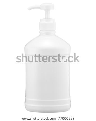 White bottle - stock photo