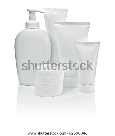 white bottles and pads
