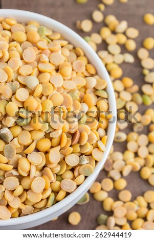 white bowl full of soybeans - stock photo