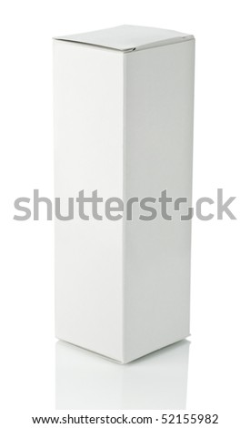 white box isolated - stock photo