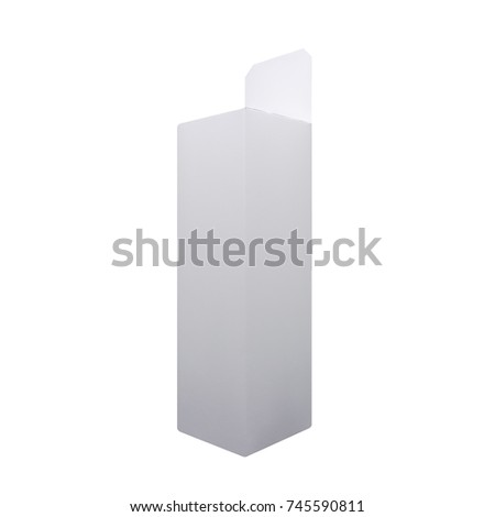white box isolated on a white background. side view