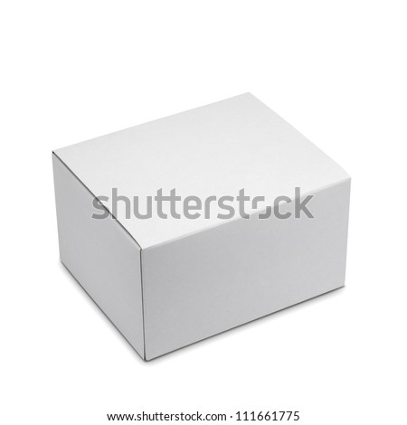 White box isolated with clipping path - stock photo