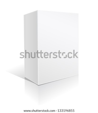 white box on white - stock photo