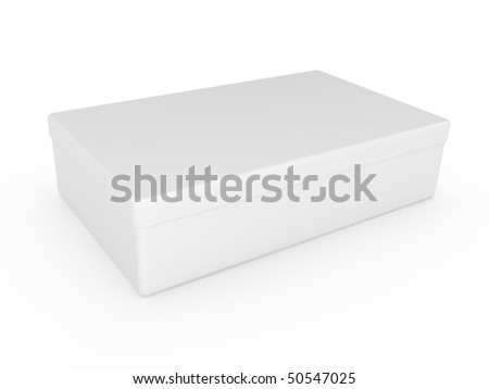 White box over on a white background