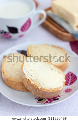 White bread and butter