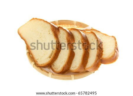 White bread  isolated on the white .