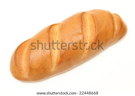 White bread on a white background