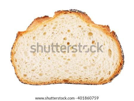White Bread Slice - stock photo