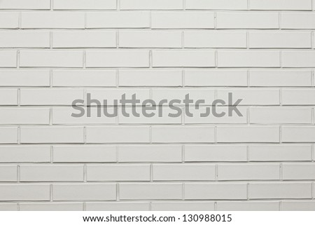 white brick painted wall, perfect for background - stock photo