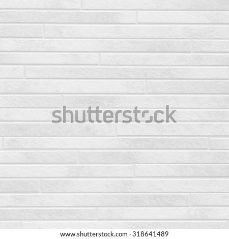 White brick stone wall seamless background and texture - stock photo