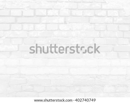 White Brick Texture Backdrop - stock photo