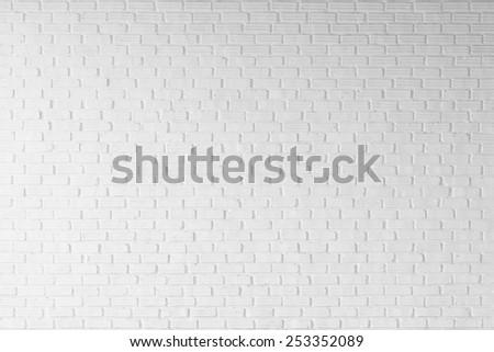 white brick wall background - stock photo