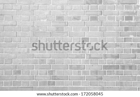 white brick wall background and texture - stock photo