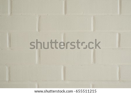 White Brick Wall Background Close Up