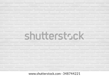 white brick wall concept : white clean rectangle brick texture wall room backdrop for background : Abstract, background and interior , exterior concept  - stock photo