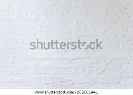 White brick wall detail for background or texture. - stock photo