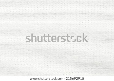 White brick wall for background or texture - stock photo
